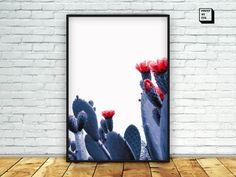 white cactus printcactus photography cactus by PrintmyInk on Etsy