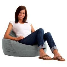 Ultra Lounge Comfort Suede Bean Bag Lounger | from hayneedle.com