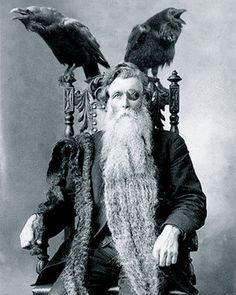 Bearded Odin Man Long Longest Beard Unusual Vintage Photography Reprint…