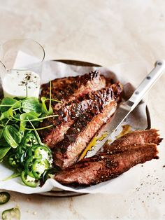 The buttermilk in this recipe is the secret to making the char-grilled steak that extra bit more succulent.
