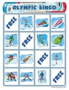 Free Winter Olympics Bingo Printable: Winter Olympics Crafts for Kids. #StayCurious