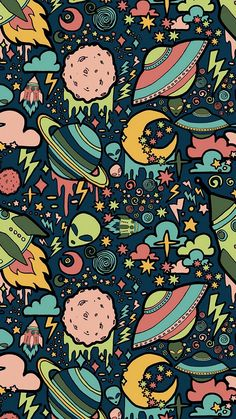 Texture, patterns, aliens, rockets, space wallpaper - Best of Wallpapers for Andriod and ios Graffiti Wallpaper Iphone, Pop Art Wallpaper, Trippy Wallpaper, Wallpaper Space, Iphone Background Wallpaper, Aesthetic Iphone Wallpaper, Galaxy Wallpaper, Aesthetic Wallpapers, Cute Ipad Wallpaper
