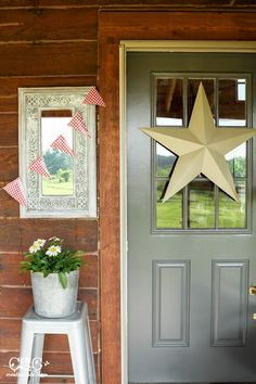 Entrance to a Log Cabin - Stock Image   Country Cabins   Pinterest ...