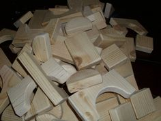 5 lbs of Wooden Building Blocks #Vessell