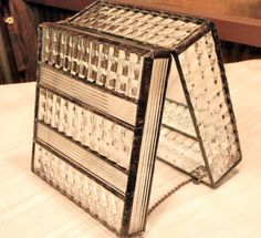 Mirror Bottom Large Stained Glass Box Clear by HangingValley, $130.00