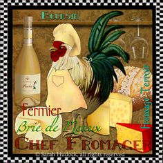 Art print: Rooster Chef Fromager © 2013 Sarah Hudock, all rights reserved.