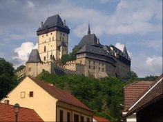"""See 1352 photos and 94 tips from 8237 visitors to Státní hrad Karlštejn. """"Breath taking views. You can get to the castle walking or by horse Tour Guide, Four Square, Castle, Tours, Mansions, House Styles, Building, Manor Houses, Villas"""