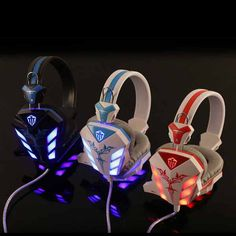 Hot Sale Cosonic LED Light Gaming Headphone Hifi Stereo Game Headset Stereo Bass Earphone with Microphone for PC Gamer Gaming Earphones, Best Gaming Headset, Gaming Computer Setup, Top Computer, New Electronic Gadgets, Hifi Stereo, Best Headphones, Luz Led, Pc Gamer