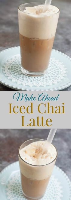 Cool off with a Homemade Iced Chai Latte and it's blend of subtly sweet and delicious spices. My recipe is easy to make and can be made ahead! Get the recipe at MealPlanningMagic. com
