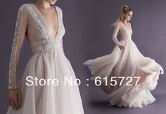 Find More Prom Dresses Information about Paolo Sebastian Haute Couture A Line Long Deep V Neck Long Sleeve Beading Vestidos De Festa Prom Dress 2014 Evening Party Gown,High Quality gown beaded,China dress kawaii Suppliers, Cheap gown meaning from New York Dress on Aliexpress.com