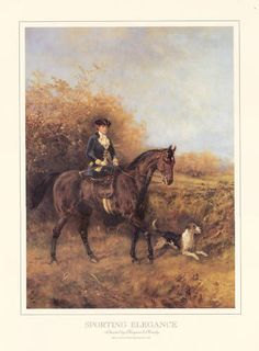 FOXHOUND-DOG-ART-PRINT-LADY-RIDING-SIDE-SADDLE-Large