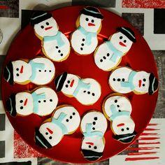 christmas butter snowman cookies