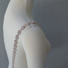 Detachable Rose Gold Rhinestone Crystal Straps to Add to your Wedding Dress by Chuletindesigns on Etsy