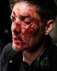 Jensen in makeup, Supernatural 8x17