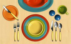 Fiesta (Facebook) celebrating bright colors for summer tabletops.