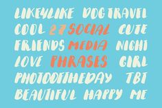 Social Media Phrases Set VOL.2 by Creativemaker on @creativemarket