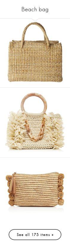 """Beach bag"" by alina-chipchikova ❤ liked on Polyvore featuring bags, handbags, purses, sacs, women, woven bag, hand bags, hand woven bags, brown purse and brown handbags"