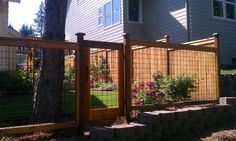 Wooden Frame For Chain Link Fence Love This Idea For Not