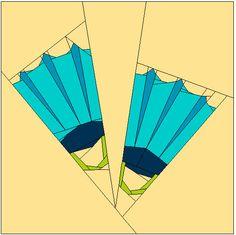 Fins paper piecing PP pdf Pattern от QuiltsMyWayShop на Etsy