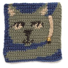 Cat's Head granny square from Lion Brand Yarn  #crochet #gannysquare