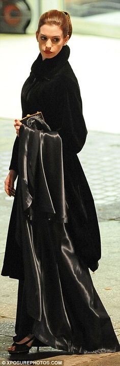 Anne Hathaway as Selina Kyle in an evening dress, in The Dark Knight Rises-Very nice!