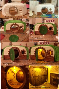 My DIY Hobbit Hole that will be going in my (Hobbit) Fairy garden. My DIY Hobbit Hole that will be g Mini Fairy Garden, Gnome Garden, Fairy Gardens, Fairies Garden, Miniature Gardens, Hobbit Hole, The Hobbit, Doll House Crafts, Fairy Village