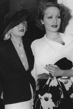 Harlow and Dietrich, 1930's. Tumblr