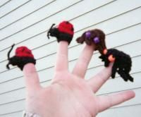 Butterfly, Ladybug and Spider Finger Puppets (2 images) - Free Original Patterns - Crochetville