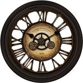 """Found it at Wayfair Supply - Oversized 24"""" Gear Works Wall Clock"""