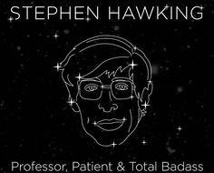 Infogram : Stephen Hawkings Leben als Poster
