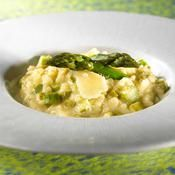 Risotto d'asperges vertes - une recette Légumes - Cuisine