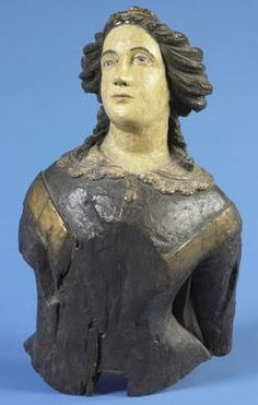 antique figureheads for ships | nautical, America, An American carved pine figurehead of a dark haired ...