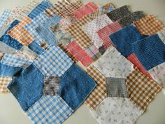Very Early Bow Tie Quilt Blocks by vintagenancy on Etsy