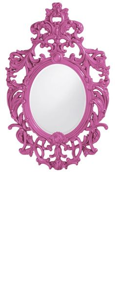 "Wall Mirrors, Grand 51"" Tall Baroque Mirror, Hot Pink High Gloss Lacquer, so beautiful, inspire your friends and followers interested in luxury interior design & gifts with more beautiful accents like this from InStyle Decor Beverly Hills, Luxury Designer Furniture, Mirrors, Lighting, Art, Accents & Gifts, over 3,500 inspirations to choose from and share with our simple one click Pinterest Pin button enjoy & happy pinning"