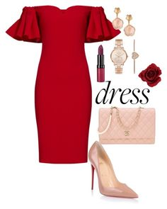 """""""Untitled #113"""" by justina-mcfashionista on Polyvore featuring Christian Louboutin, Badgley Mischka, Chanel, Michael Kors, Rimmel and Pasquale Bruni"""