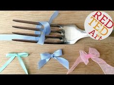 How to make a Fork Bow - YouTube