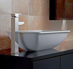 Serie Saona grifo de lavabo alto de Clever Platinum