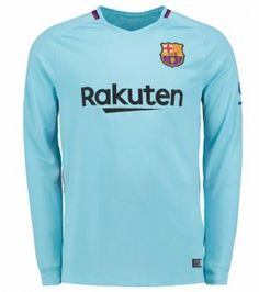 FC Barcelona 2017-18 Season LS Away FCB Shirt Jersey [K599]