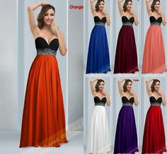 New Sexy Strapless Chiffon Formal Gowns Bridesmaids Party Prom Dresses size 6-26