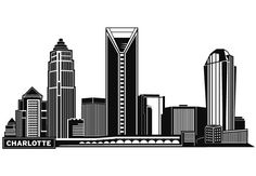 charlotte skyline outline - Google Search