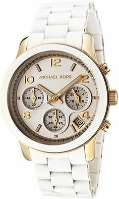 Orologio Donna Cronografo Michael Kors Bianco Mk5145