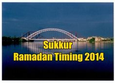 Sukkur Ramadan Timing 2014