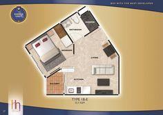 Room Plan (1B-E 32.5)  Arcadia Beach Continental