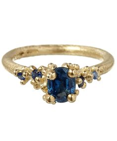 Ruth Tomlinson Gold Sapphire and Diamond Ring