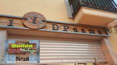 Rótulo en madera con efecto envejecido. Hecho y pintado a mano por Juan Antonio Vizcaíno para Decoración Retro & Vintage. www.cartelestematicos.com