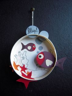 """poisson rouge et violet"" Projects For Kids, Diy And Crafts, Craft Projects, Crafts For Kids, Arts And Crafts, Paper Crafts, Diy With Kids, Animal Crafts, Summer Crafts"