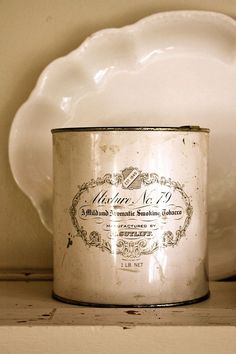 Antique/Vintage shabby chic tin for smoking by mysweetsavannah