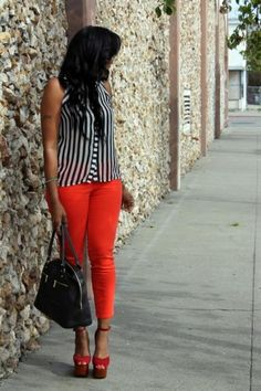 Stripes on a bold. Love.