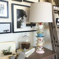 teacup lamp tutorial, electrical, how to, lighting, repurposing upcycling