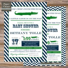 Boys Baby Shower Invitation Alligator Vintage By Paperclever 13 00 Showers Crocodile Party